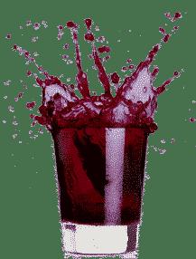 shot glass with Cheia splash